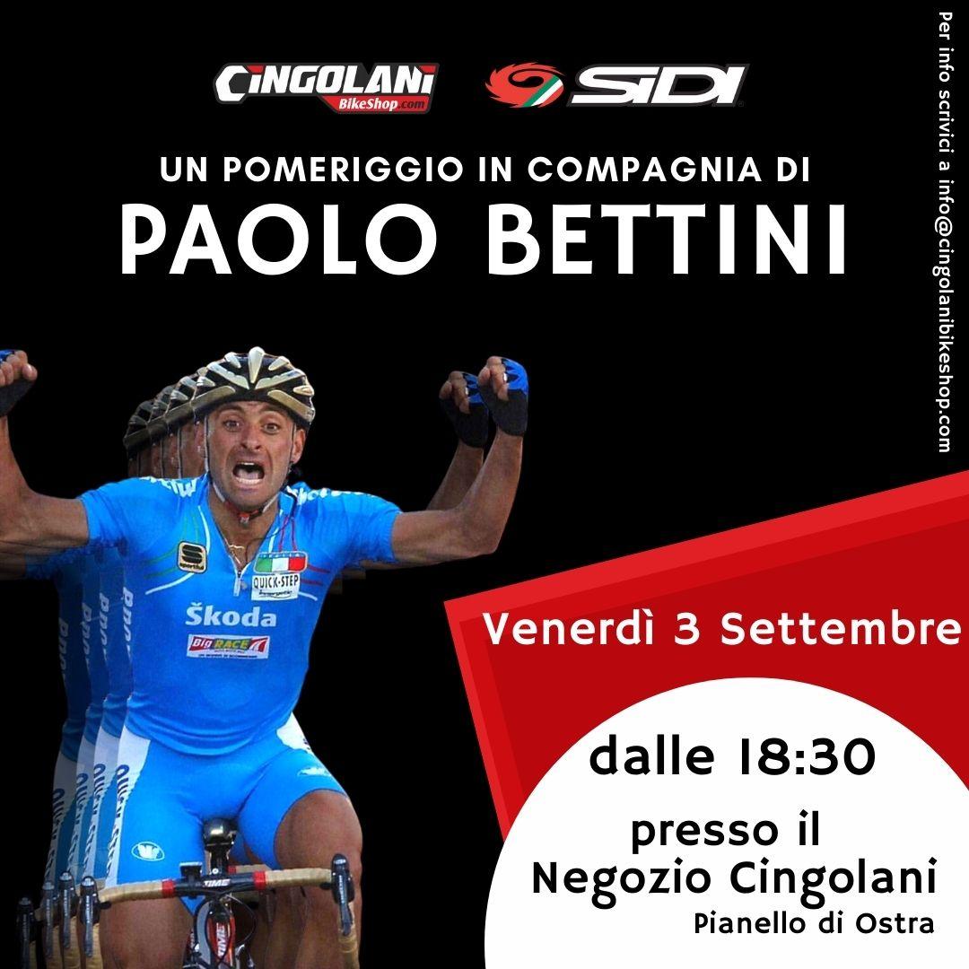 Venerdì 3 Settembre 2021 | Sidi & Cingolani: un pomeriggio con Paolo Bettini